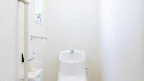 白を基調とした清潔感あるトイレ。100年クリーンのフチレス形状の便器はお手入れしやすく、お掃除回数が減ります。エコロジーな超節水タイプです♪